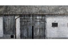 Stodoła, tech.mieszana na płycie MDF, 44x140 cm, 2014
