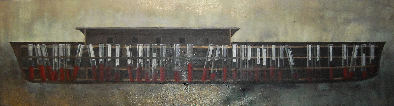 Arka, 35x130 cm, akryl na płótnie, 2011