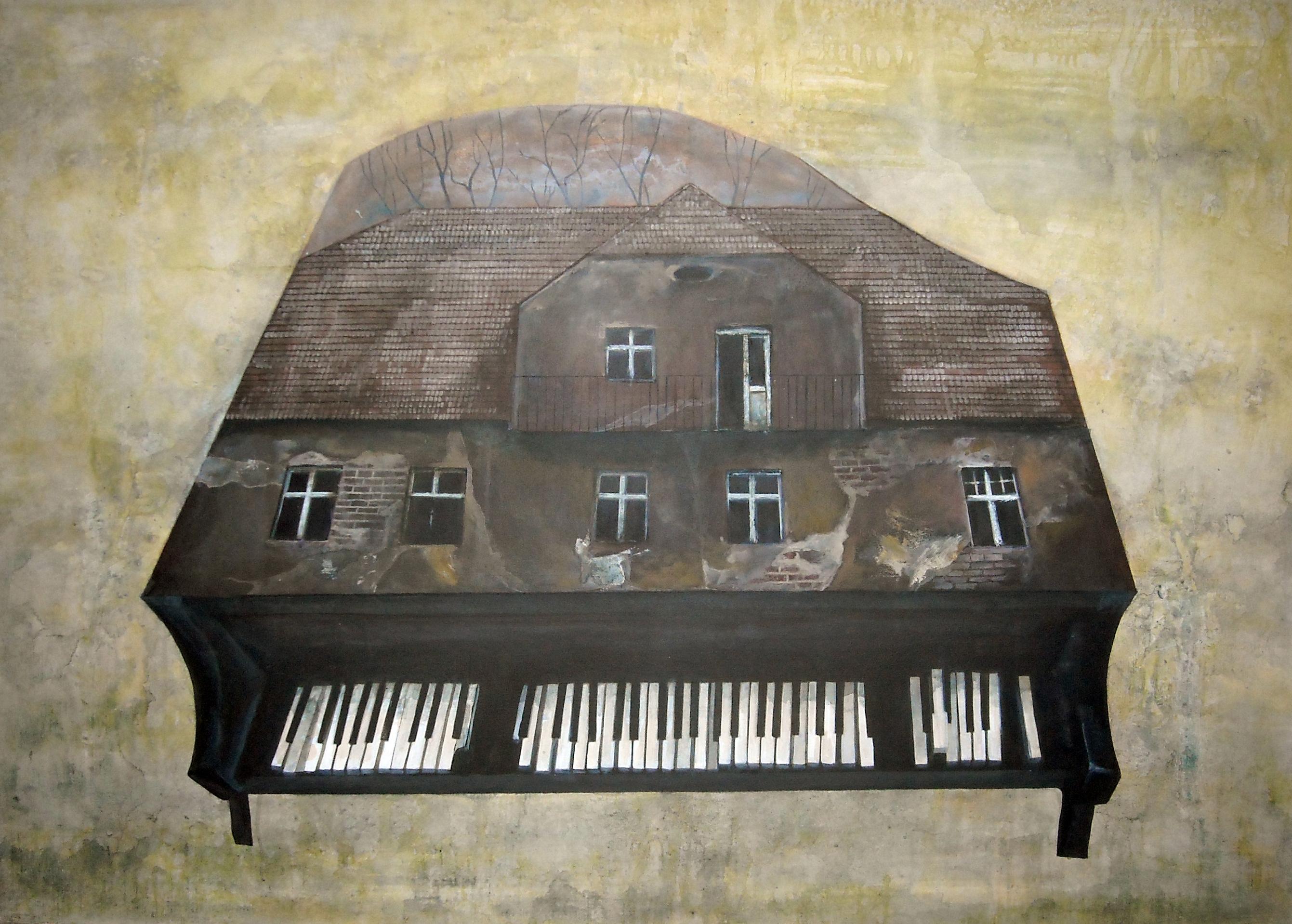 perdendo, 100x140 cm, akryl na płótnie, 2009