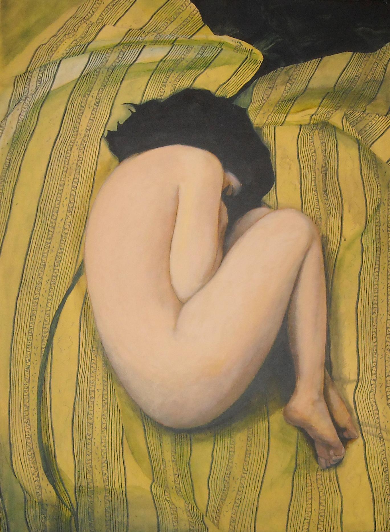 Intymność, akryl na płótnie, 100 x 73, 2009